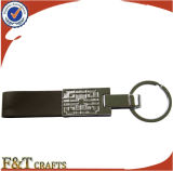 High End Cheap Custom Blank Leather Metal Keychain (FTKC9142J)