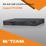 Audio and Alarm HD Cvi DVR 4CH 720p RoHS P2p DVR Factory Wholesale