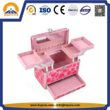 Aluminium Cosmetic Beauty Box for Makeup Storage (HB-2219)