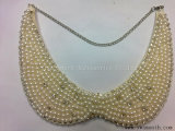 Fashion Rhinestone Pearls Collar Clothes Appliques Beads Women Dress Accessories