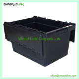 50kgs Security Attach Lid Stackable Moving Plastic Solid Totes