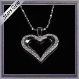 Romatic Heart Shape Cubic Zirconia Necklace Fashion Jewellry