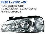 Head Lamp Assembly Fits Hyundai Avante Elantra 2004 92104-2D520/92102-2D500/92102-2D510/92101-2D510
