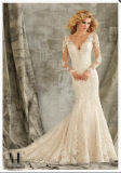 2016 Long Sleeve Lace Mermaid Bridal Wedding Gowns Wd1350
