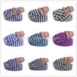 New Fashion Designer Colorful Unisex Men Lady Elastic Woven Fabric Belt