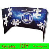 Custom Fabric Portable Modular L Shape Curved Backdrop Banner Stand