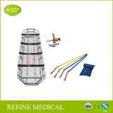 Gd-6D Medical High Quality Hospital Stainless Steel Basket Stretcher