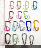 Hot Quick Release 50mm Aluminum Hook for Keychain/Carabiner/Camping Spring Snap Clip (HS109)