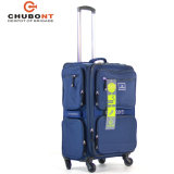 2017 Chubont Big Wheel Double Zipper Suitcase for Business