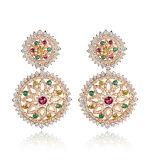 Silver Jewelry Brass Silver Earring Costume Wholesale Price Fashion Jewelry