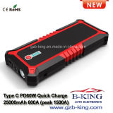 25000mAh Quick Charge Type C (Pd60W max) Portable Car Jump Starter Power Bank