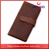 Long Genuine Leather Travel Men Wallet Purse with Card Holder