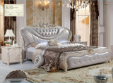 Wholesale Shop Price Bedroom Furniture Sets Leather Bed (A950)