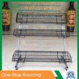 Metal Freestanding Fruit Basket Display Rack
