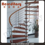 Steel Spiral Staircase with Wooden Tread Space Saving (SJ-3008)
