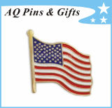 Cpsia Approved USA Metal Flag Lapel Pin for Custom Badge (badge-034)