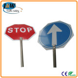 Hand Warning Signal, Traffic Sign, Warning Sign, Plastic Sign