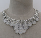 Ladies Fashion Costume Jewelry Bead Crystal Collar Necklace (JE0128)
