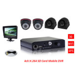4channel Camera 3G SD Mobile DVR with 3G GPS WiFi Support G-Sensor and Mobile Phone APP