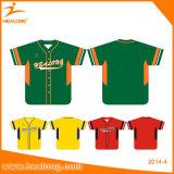 Healong Wholesale Sublimation Digital 100%Polyester Cheap Custom Baseball Jersey