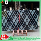 High Quality Tempered Glass Coloured Pattern Paint for Furniture Surface