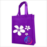 Purple Non Woven Tote Bag with Custom Pringting