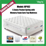 Spinal Protective 5 Zones Pocket Spring Memory Foam Mattress (HP102)
