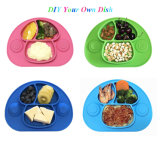 BPA Free, Dishwasher Safe, Non-Slip, One-Piece Silicone Baby Feeding Mat with 3 Compartments