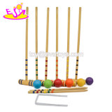 Classic Outdoor 6 Player Children Wooden Croquet Game for Garden W01d018