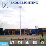 Baode Lights Outdoor 20m High Mast Lighting with Climbing Platform for Football Pitch Best Price