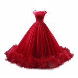 Red Quinceanera Ball Gowns 15 Years Lace Wedding Evening Dresses E237