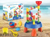 Beach Toy Water Play Tables - Summer Park Waterwheel Watermill Toys Sand