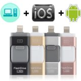 Best Price 3 in 1 OTG USB Flash Drive 3.0 Type-C Pen Drive for iPhone Smart Cell Phone
