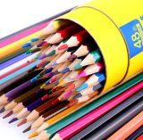 Custom Mulitcolor Logo Painting Water Based Colored Wooden Pencil Set