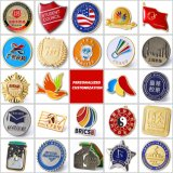 Lapel Badges Labels Wholesale Free Sample Design Custom Logo Metal Badge Hard Enamel Pins for Souvenir