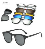 5 in 1 Polarized Mirror Lens Magnet Clip on Sunglasses