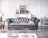 Classic Large Size Living Room Leather and Fabric Sofa