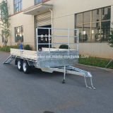 Removable Side Panels 14X7 Flatbed Trailer with Ramps