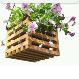 Indoor Garden Wooden Flower Pot with Holdes