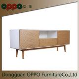 Simple Design TV Cabinet with Veneer Living Furniture