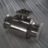 Stainless Steel Sanitary Clamped Ball Valve with Mounting Plate