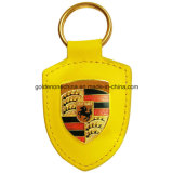 Custom Gold Plated Coloring Genuine Leather Key Holder