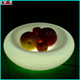 LED Lighting Illuminated Fruit Tray LED Fruit Plate Bowl Compote Dish