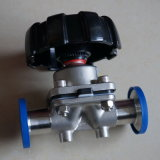 Stainless Steel Sanitary Tank Diaphragm Valve by Manual