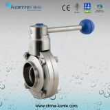 Manual Sanitary Welded Butterfly Valve