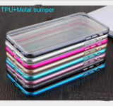 Hot Selling TPU+Metal Bumper 2 in 1 Hybrid Mobile Phone Case Covers for iPhone 6/Samsung S7/S6 etc