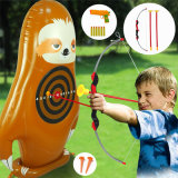 PVC Kids Garden Dart Game Set Inflatable Eco-Friendly Brown Bradypode Dart Game Set Toys
