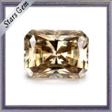 Champagne Color Radiant Cut Synthetic Moissanite Stone