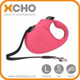 Cheap Pet Supplies with Nylon Ribbon Cord Hand Grip One Button Brake & Lock LED Dog Leash