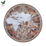Printed Picture Modern Hand-Painted Map Wall Art for Home Deco
